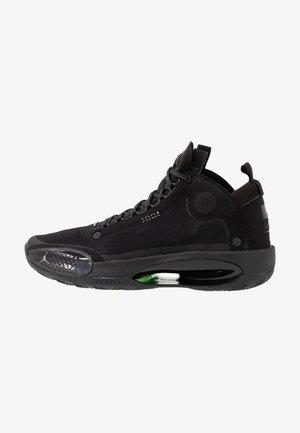 AIR XXXIV - Basketball shoes - black/dark smoke grey/electric green