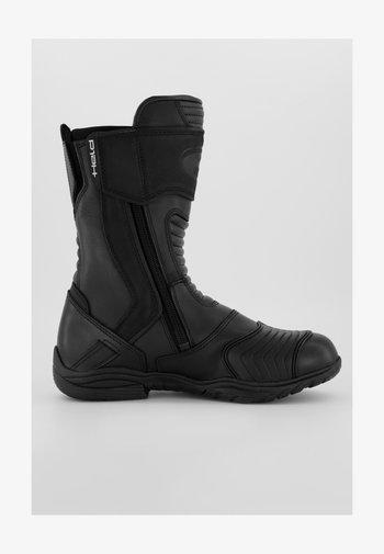 Cowboy/biker ankle boot - noir