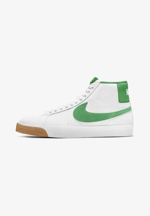 MID SKATEBOARDSCHUH - High-top trainers - white/white/coconut milk/lucky green