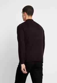Burton Menswear London - HALF ZIP  - Sweter - burgundy - 2