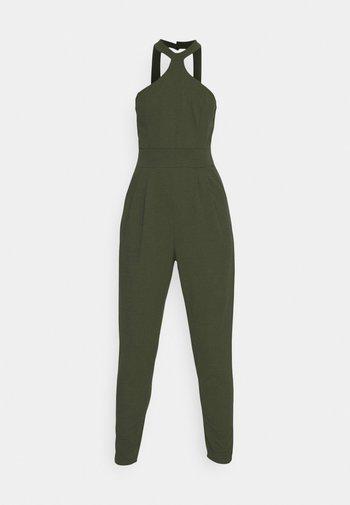 SULTANA HALTER NECK - Jumpsuit - khaki/green