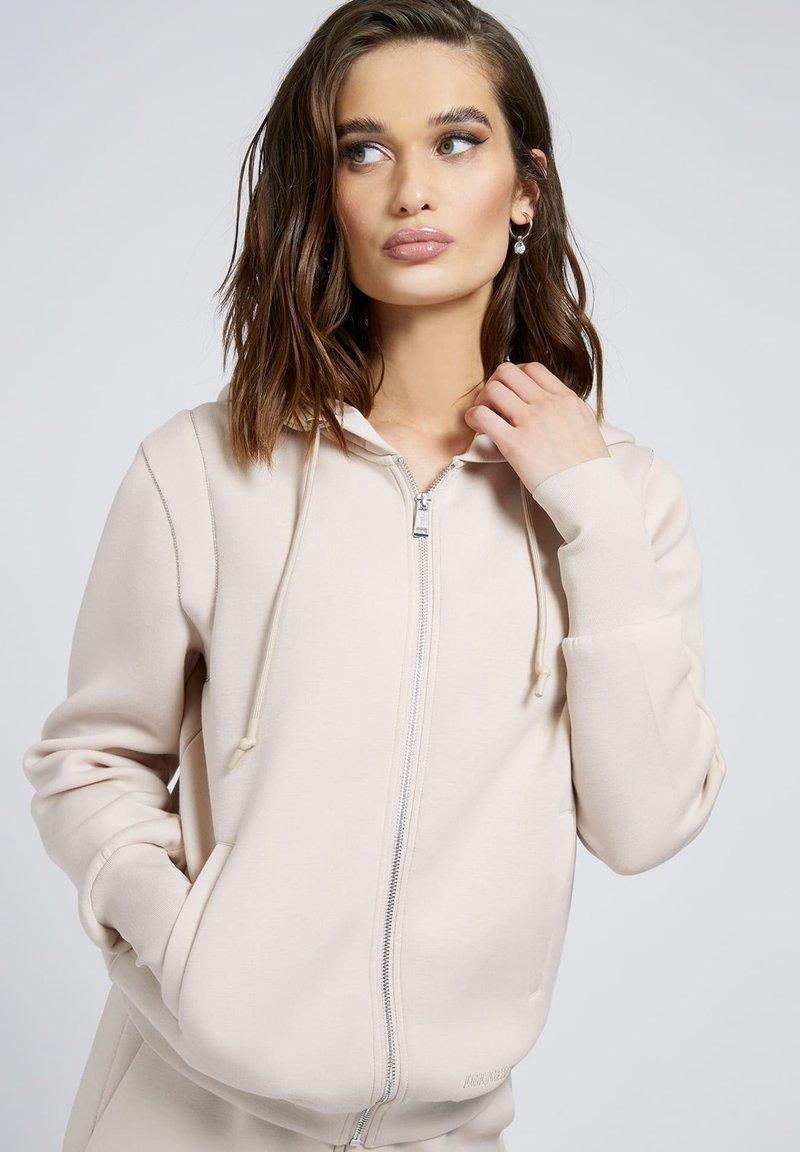 Guess - Zip-up sweatshirt - beige