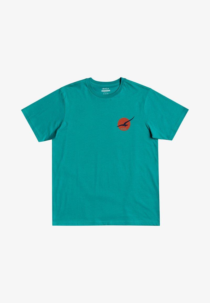 RVCA - Print T-shirt - turquoise