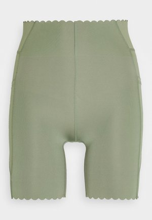 SCALLOP HEM BIKE - Legging - basil green