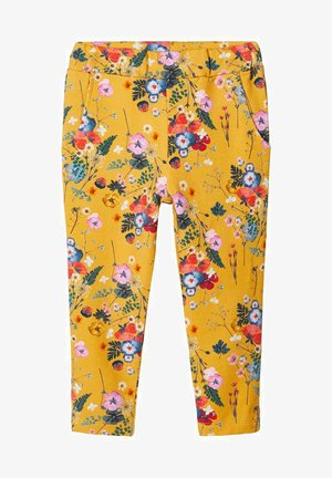 BLUMENPRINT - Tracksuit bottoms - spicy mustard