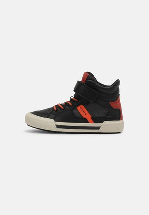 ALONISSO BOY - Sneakersy wysokie - black/orange