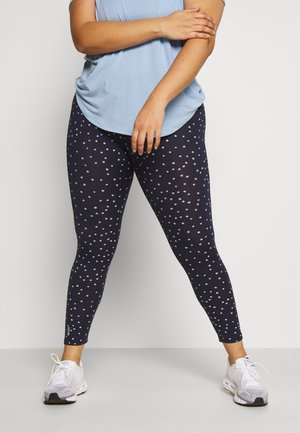 ONPFRANCESCA TRAINING - Leggings - maritime blue/white