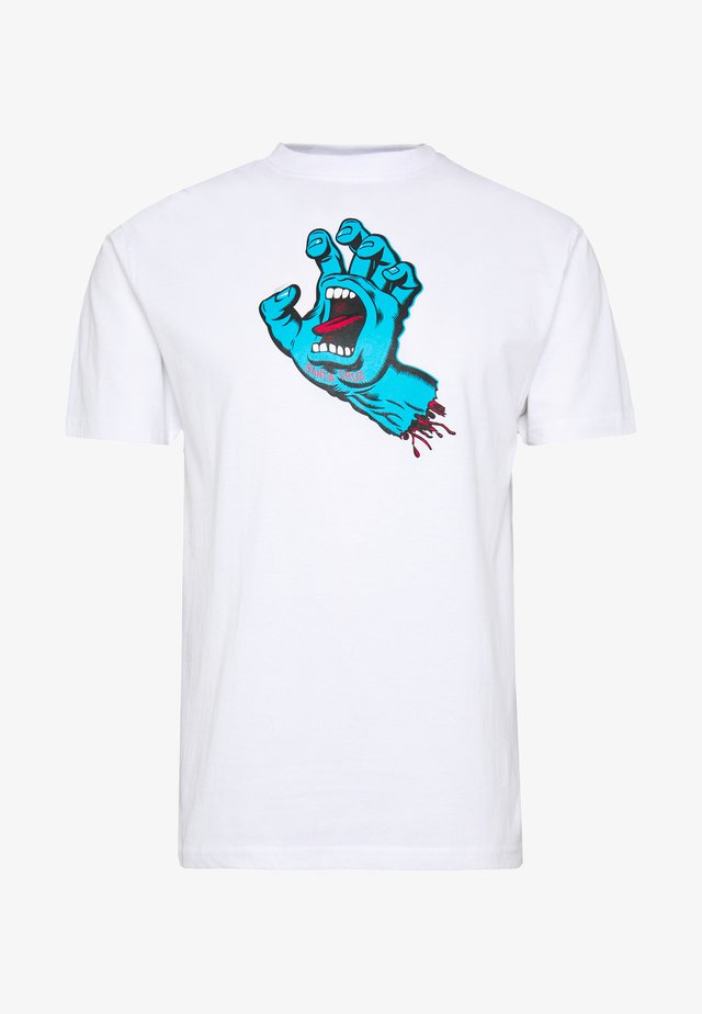 UNISEX SCREAMING HAND - Print T-shirt - white