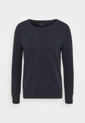 LONGSLEEVE BASIC WITH ROUNDNECK - Strickpullover - midnight blue