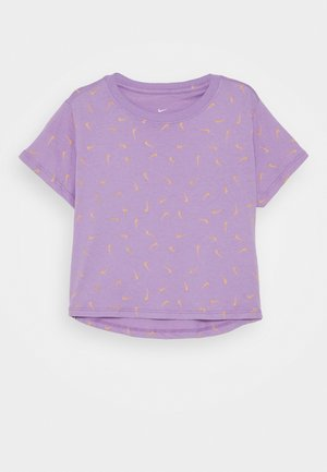 CROP SWOOSHFETTI - Print T-shirt - violet star/orange chalk