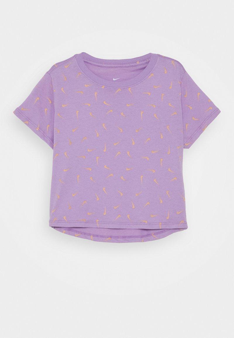 Nike Sportswear - TEE CROP - T-shirt print - violet star/orange chalk