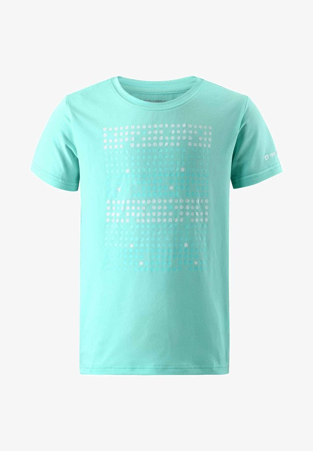 SPEEDER - Printtipaita - light turquoise