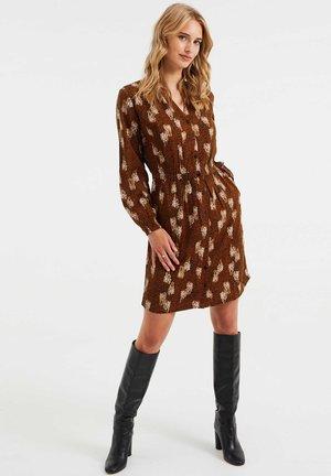 Shirt dress - brown