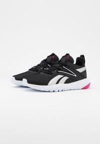 Reebok - MEGA FLEXAGON - Sports shoes - black/white/pink - 1