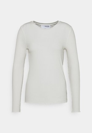 SLFANNA CREW NECK TEE  - Long sleeved top - snow white
