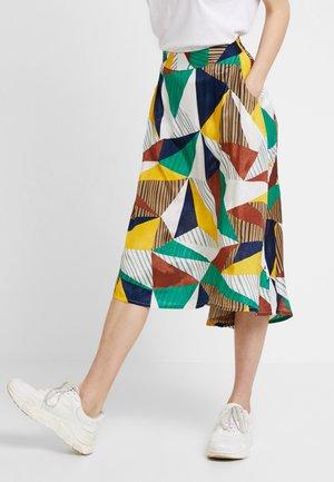 KAMALINA - A-line skirt - old gold