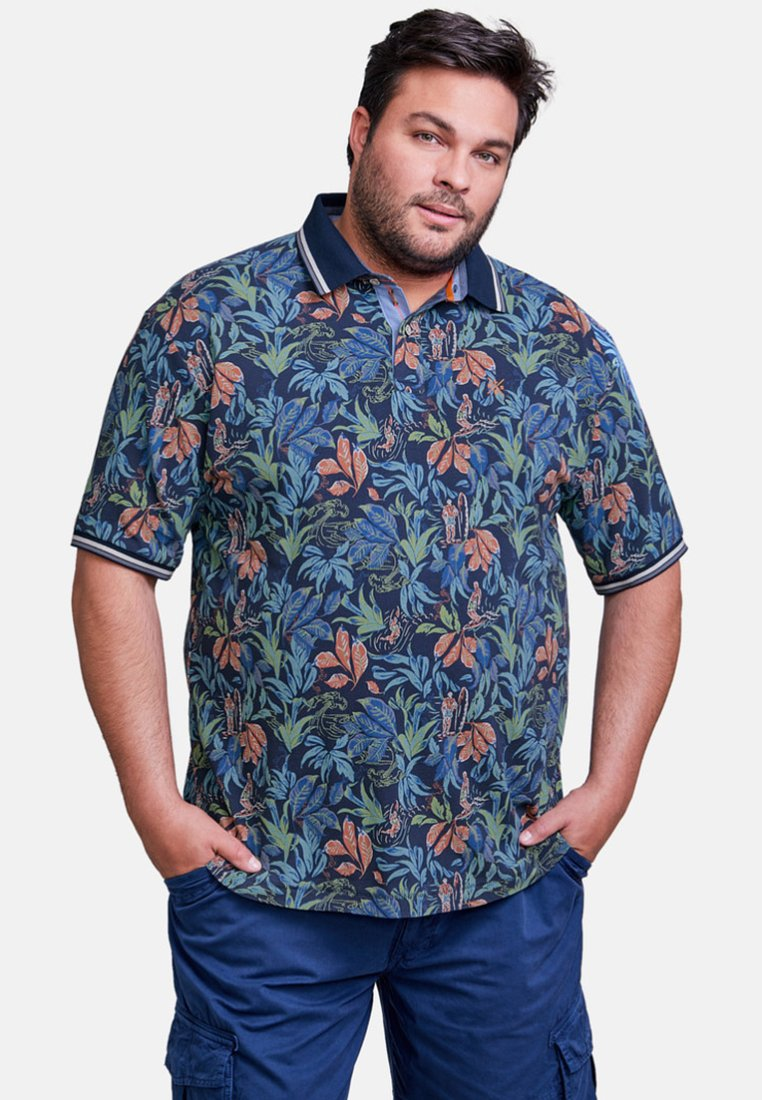 LERROS - FLOWER - Polo shirt - vintage blue