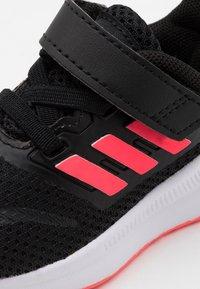 adidas Performance - RUNFALCON I UNISEX - Neutral running shoes - core black/signal pink/footwear white - 5