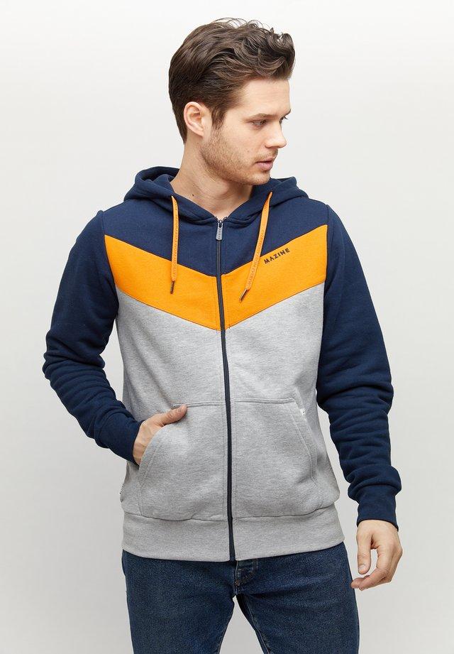 BANHAM - veste en sweat zippée - navy/grey melange