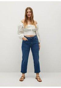 Violeta by Mango - ELIA - Straight leg jeans - middenblauw - 1