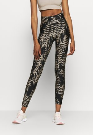 ICONIC PRINTED - Tights - survive grey metallic