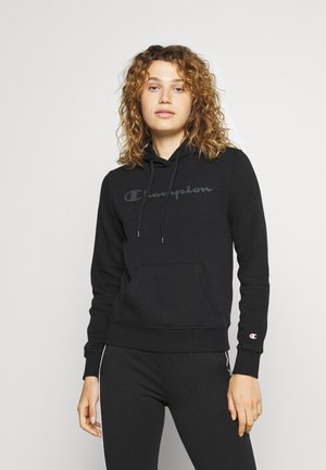 HOODED - Mikina - all black
