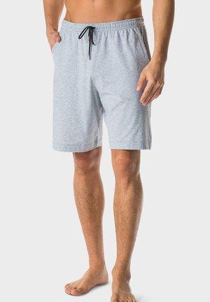 SCHLAFHOSE KURZ - Pyjama bottoms - light grey melange