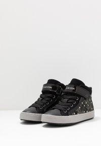 Geox - KALISPERA GIRL - Sneakersy wysokie - black/dark silver - 3