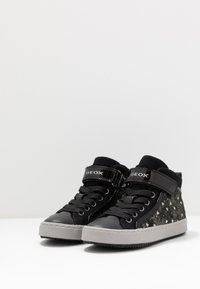 Geox - KALISPERA GIRL - Zapatillas altas - black/dark silver - 3