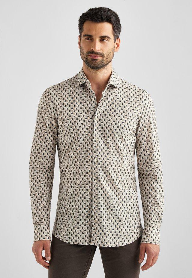 Overhemd - milchkaffee