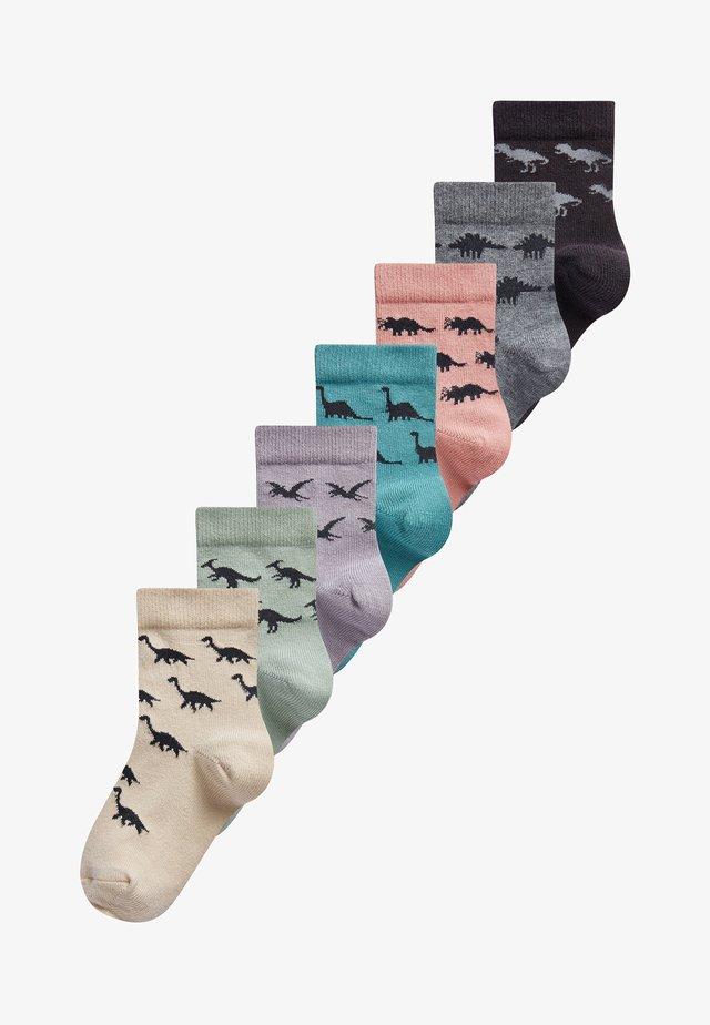 7 PACK RICH DINOSAUR - Socks - multi-coloured