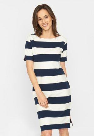 Jersey dress - navy white