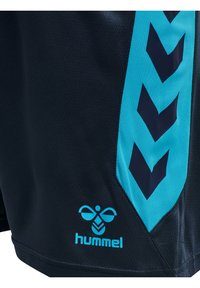 Hummel - ACTION POLY  - Krótkie spodenki sportowe - black iris/atomic blue - 4