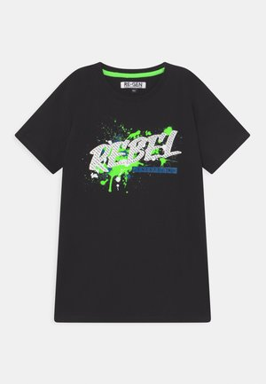 TEEN BOYS - T-shirt con stampa - black