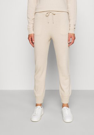 TROUSERS - Tracksuit bottoms - oatmeal