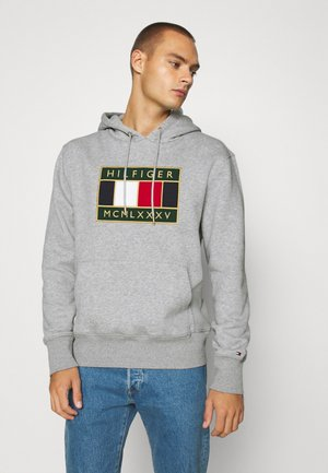 ICON BADGE HOODY - Sweat à capuche - grey