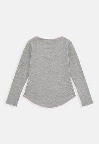 Nike Sportswear - TOKYO FLORAL TEE - Long sleeved top - carbon heathter/black/white/pink - 1