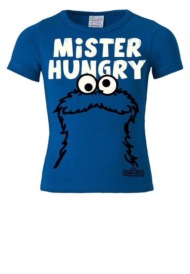 KRÜMELMONSTER MR. HUNGRY - Print T-shirt - blau
