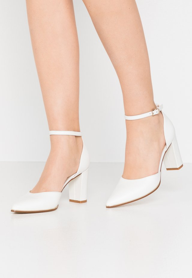 LEATHER - Classic heels - white