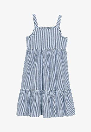 Day dress - dark blue/white