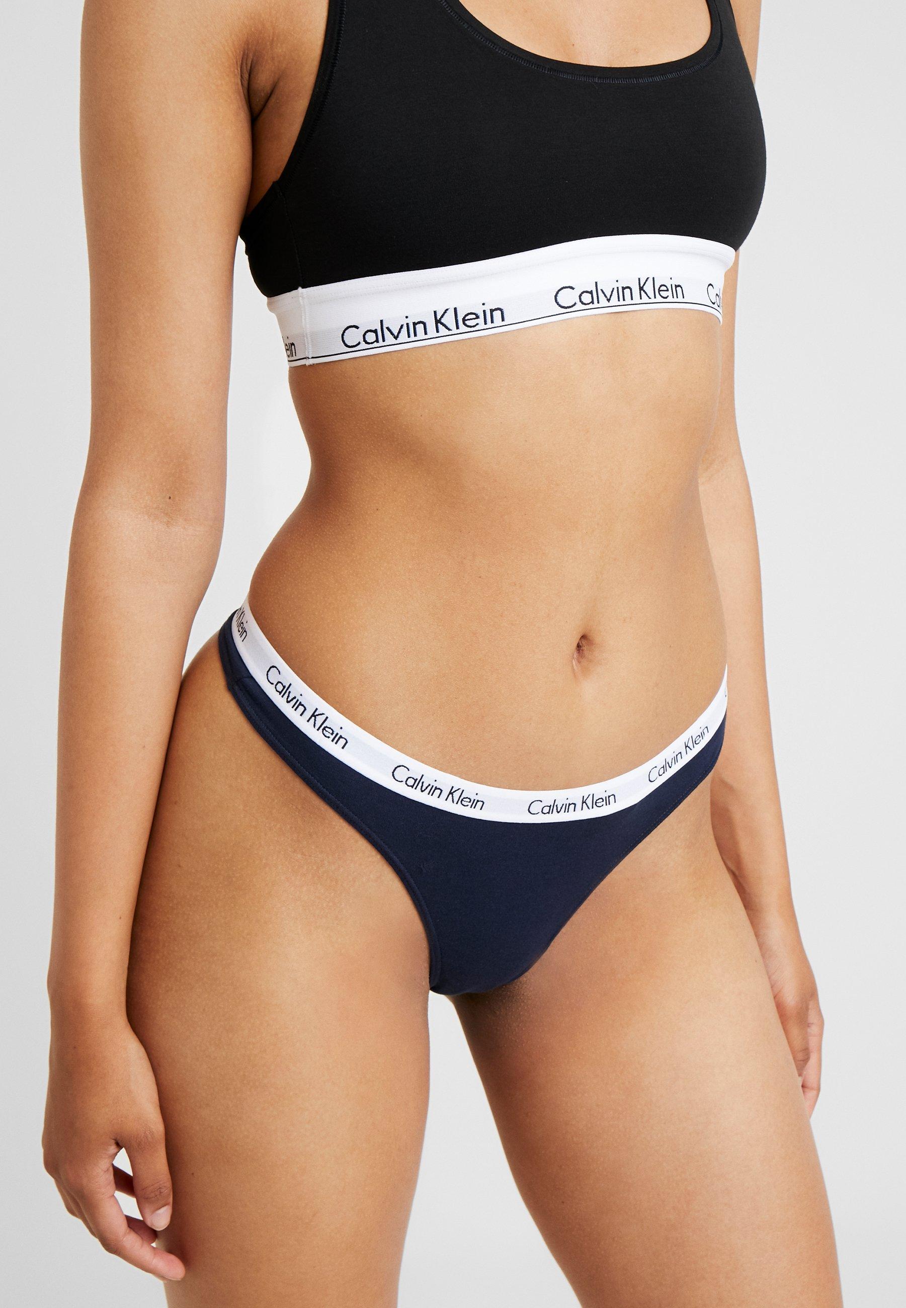 Calvin Klein Underwear MODERN THONG - Perizoma - shoreline/blu scuro -  Zalando.it