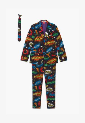 BOYS BADABOOM SET - Suit - black/yellow/red