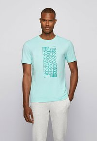 BOSS - Print T-shirt - open blue - 0