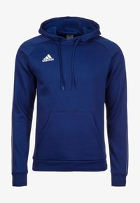 adidas Performance - CORE ELEVEN FOOTBALL HODDIE SWEAT - Hoodie - dark blue/white - 0