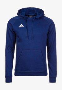 CORE ELEVEN FOOTBALL HODDIE SWEAT - Sweat à capuche - dark blue/white