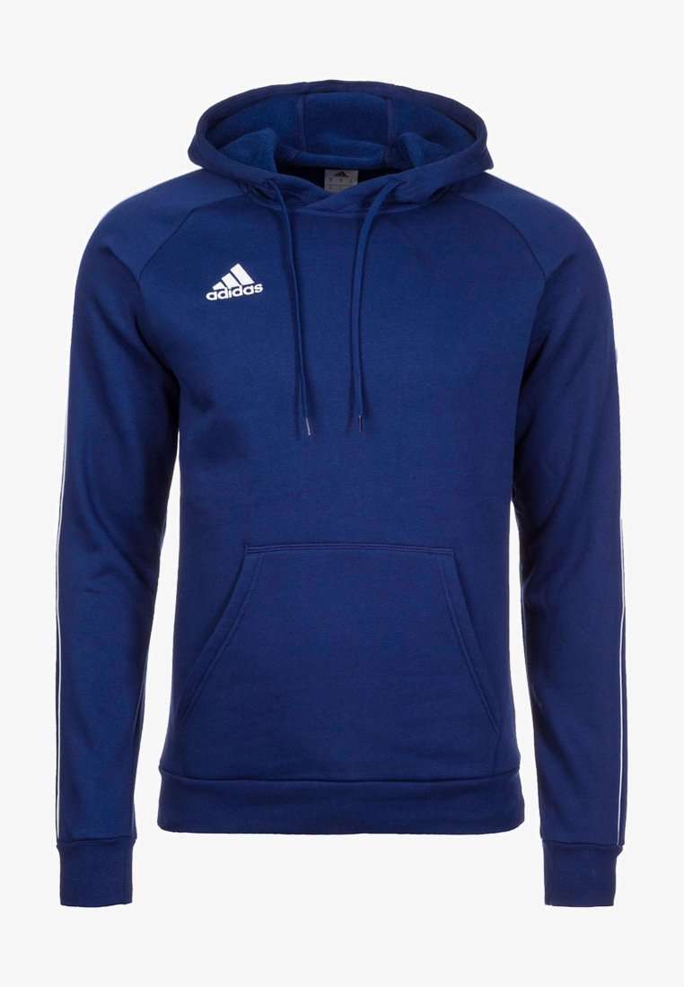 adidas Performance - CORE ELEVEN FOOTBALL HODDIE SWEAT - Hoodie - dark blue/white