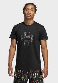 adidas Performance - HARDEN LOGO T-SHIRT - Print T-shirt - black - 0