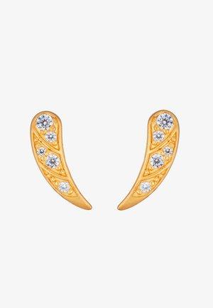 PEACOCK EARSTUDS - Earrings - gold-coloured