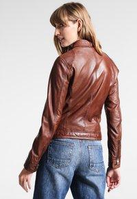 Oakwood - Leather jacket - tobacco - 2