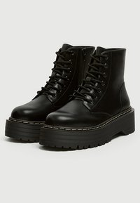 PULL&BEAR - Bottines à lacets - black - 2